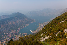 View from the top down to the Bay of Kotor