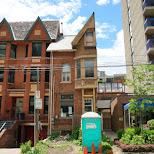 the strange half-house on St. Patrick street in Toronto in Toronto, Ontario, Canada