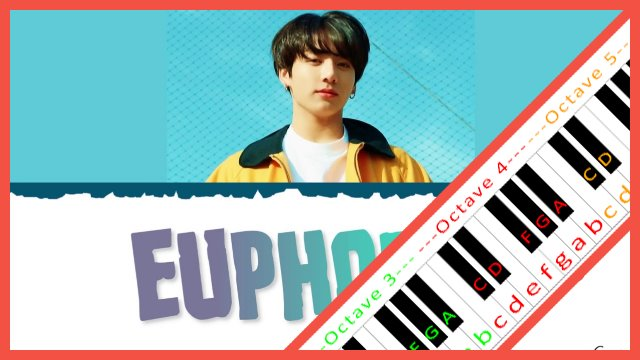 Euphoria by BTS JUNGKOOK ~ Piano Letter Notes