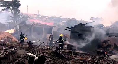 Gas explosion at Iju ishaga