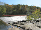 The Great Falls of the Housatonic, dammed for hydroelectrical power generation.  Down below, the falls were quite spectacular.