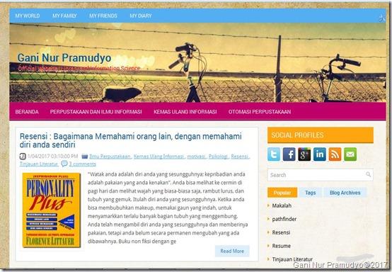 offisial website gani nur pramudyo
