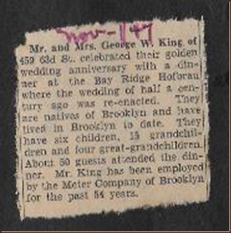 King George Sarah 50th anniversary clipping 2