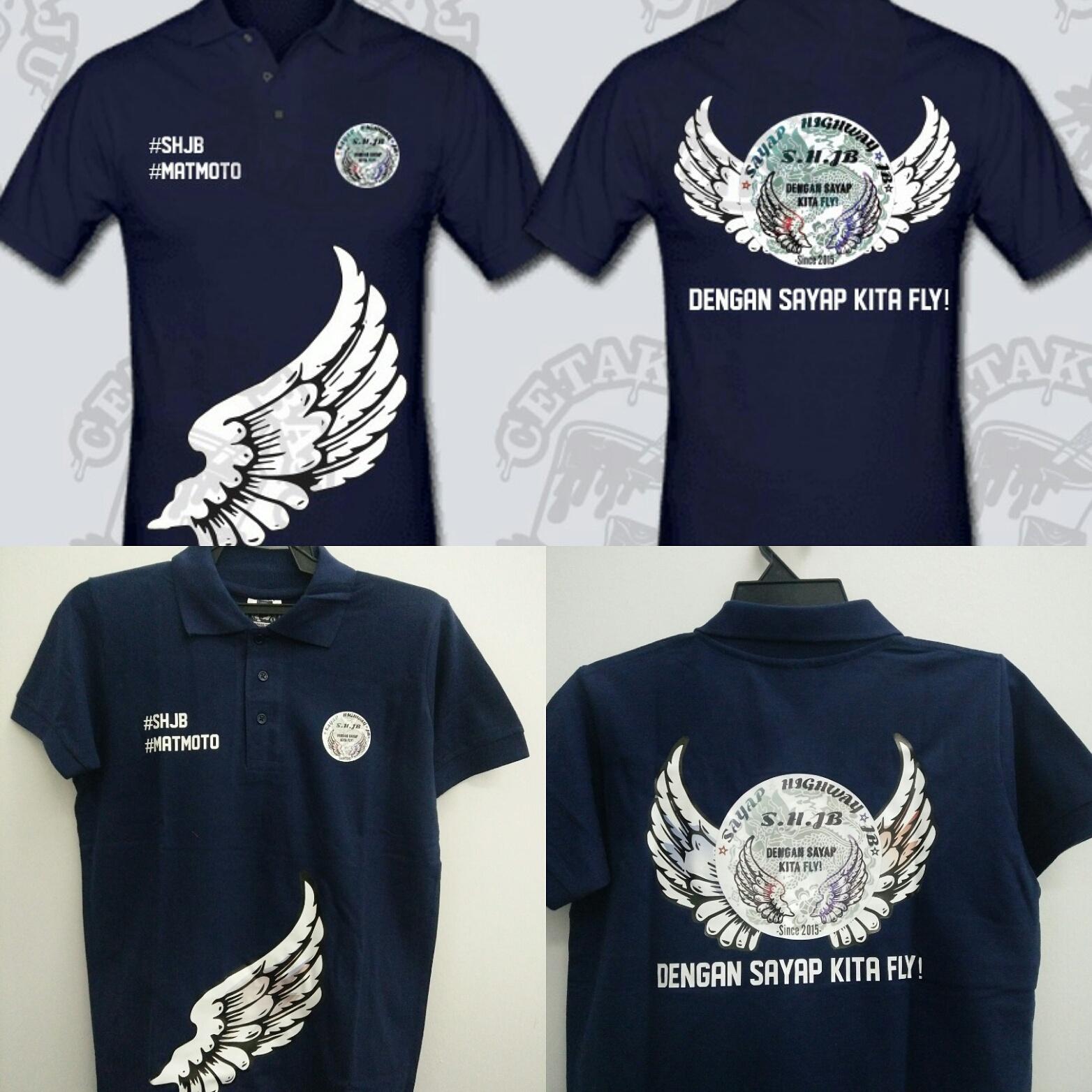Contoh design tshirt kelas - Tshirt Mat Motor