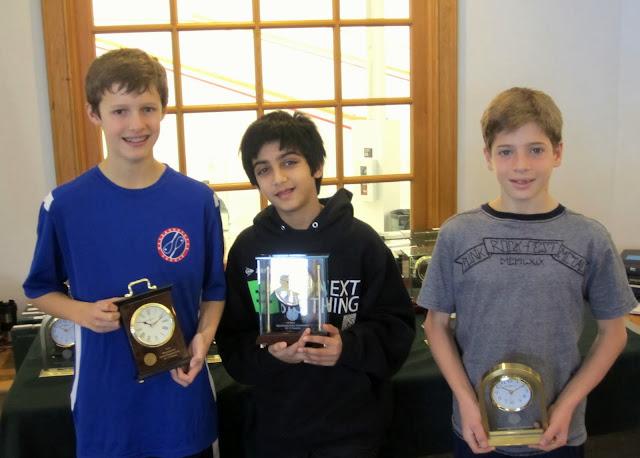 Mass Junior Championships, Jan 3-5, 2014  BU 13: Finalist - William Aube (Rye, NY); Champion - Kedar Nagaraj (Medina, WA); 3rd Place - Douglas Conigliaro (Dedham, MA)