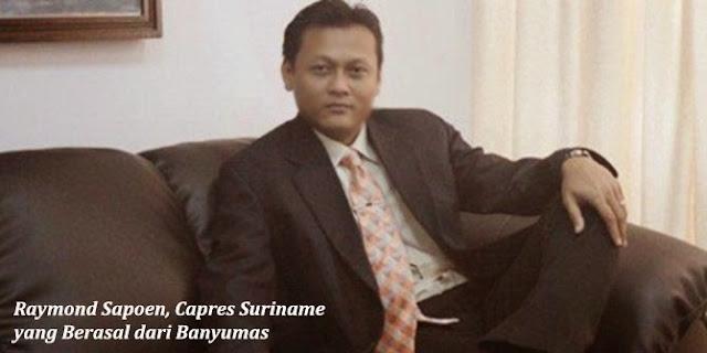 Raymond Sapoen, Capres Suriname yang Berasal dari Banyumas