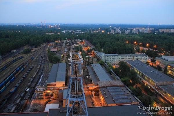 Z dachu wieży w Kopalnia Węgla Kamiennego Katowice Murcki Staszic