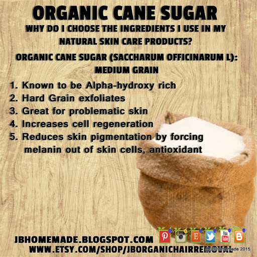 JBHomemade.com Ingredient Benefits Cane Sugar