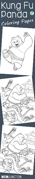 Cute Kung Fu Panda Coloring Pages For Your Little Ones