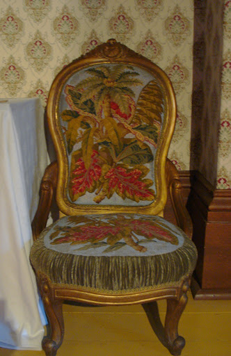 janet (Mackenzie) Lindsey Slipper Chair  c 1850