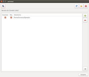 La búsqueda de virus en Ubuntu con Antiviral - ventana principal