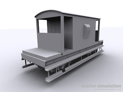 Fastline Simulation: dia 1/507 brake van for RailWorks
