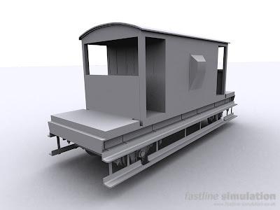 Fastline Simulation: dia 1/507 brake van for RailWorks