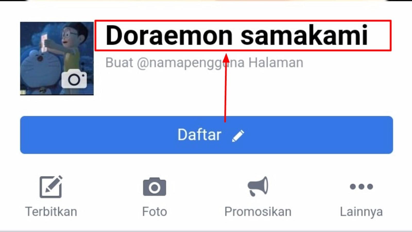 Cara mengubah dan mengangganti nama fp facebook