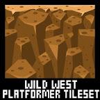 wild west cowboy platformer game tileset