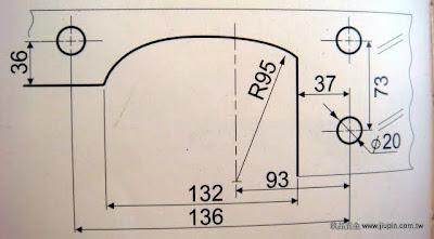 裝潢五金品名:CH400-L型夾角(小型)圖表