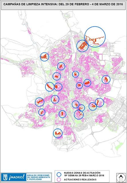 Limpiezas intensivas en 18 distritos del 29 de febrero al 4 de marzo