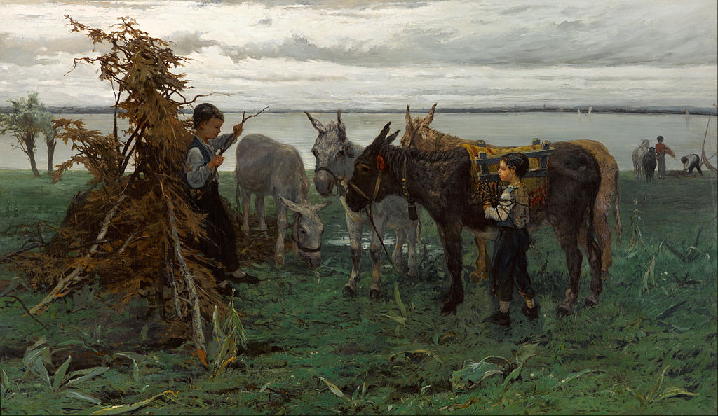 Willem Maris - Boys herding donkeys - Google Art Project.