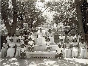 Photo: 1948 May Procession Court_St Cyprian Parish