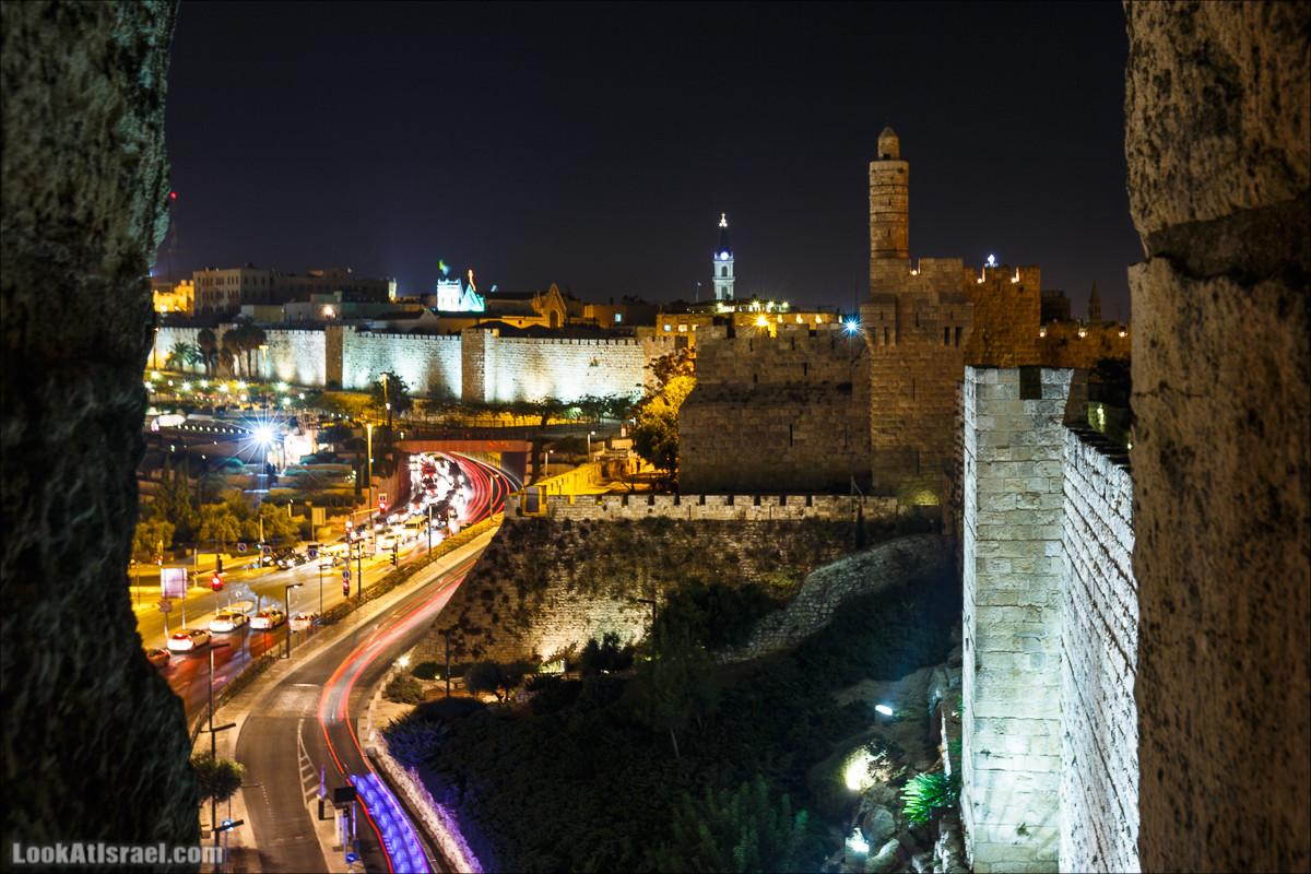 Ночной Иерусалим и туннели Западной стены