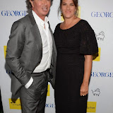 WWW.ENTSIMAGES.COM -     Richard Caring and Tracey Emin arriving  at       A Date With Your Dog in Honour of Clarissa Baldwin OBE at George Club, London September 9th 2014Celebrities attending The Dog's Trust party in honour of their chief exec Baldwin.                                                 Photo Mobis Photos/OIC 0203 174 1069