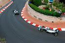 Lewis Hamilton chasing Nico Rosberg