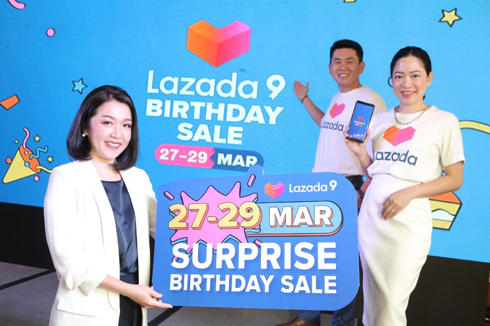 Lazada จุดพลุฉลองครบรอบ 9 ปี เผยความสำเร็จด้วยยอดผู้ใช้งานพุ่ง 100 ล้านรายต่อปีชูกลยุทธ์สร้างการเติบโตทางธุรกิจเพื่อก้าวต่อไปอย่างยั่งยืน