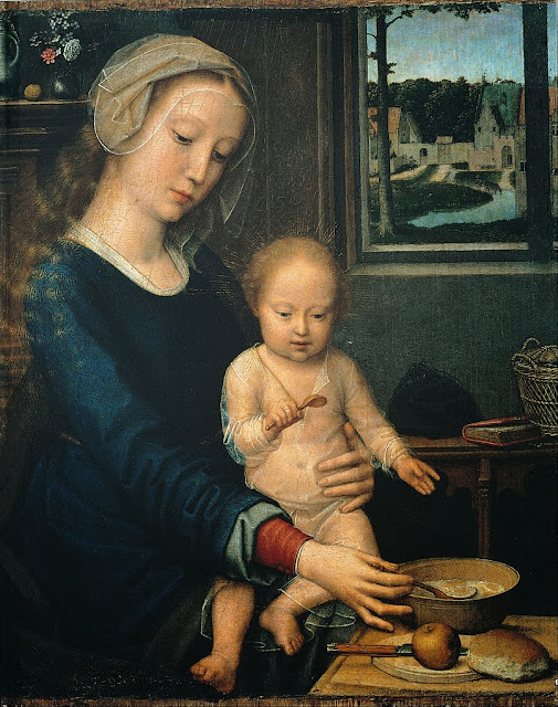 Gerard David - Madonna and Child with the Milk Soup - Google Art Project