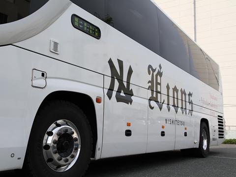 西鉄高速バス「ライオンズエクスプレス」 8546 側面 西鉄高速バス福岡支社にて(H27.04.17撮影)