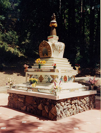 Lama Yeshe's Stupa at Vajrapani Institute, CA, USA.