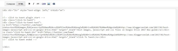 better click to tweet widget for blogger