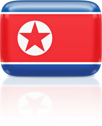 North Korean flag clipart rectangular