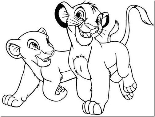 Dibujos De Rey Leon Para Colorear: Dibujos De Simba Rey León Para Colorear