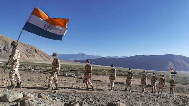 Indian Armed Forces With Tricolor in LAdakh