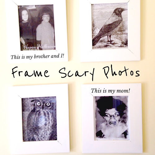 Frame scary photos