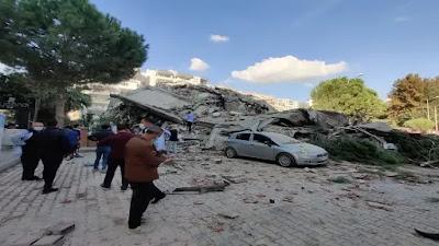 بالصور زلزال ازمير التركية .. وفاة واصابة العشرات والسعودية تواسي