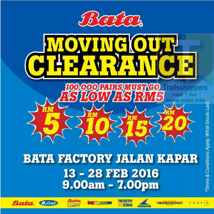 Bata Shoes Moving Out Sale