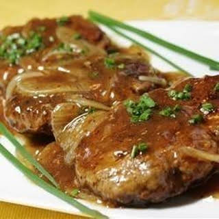 Hamburger Steak with Onions and Gravy.