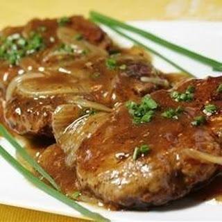 Hamburger Steak with Onions and Gravy.