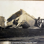 Destroyed water tower in the Zeebrugge