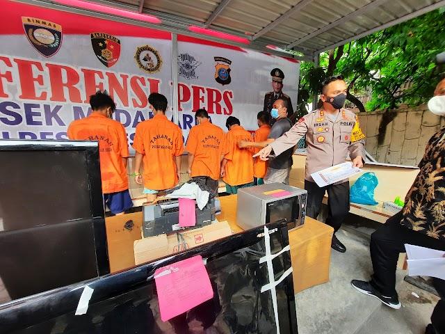 Bravo Polri..!! 100 Jeti, Antarkan Tiga Pelaku Pembobol Ruko Asia Mega Mas Ke Penjara Dengan Ancaman Hukuman 15 Tahun Kurungan