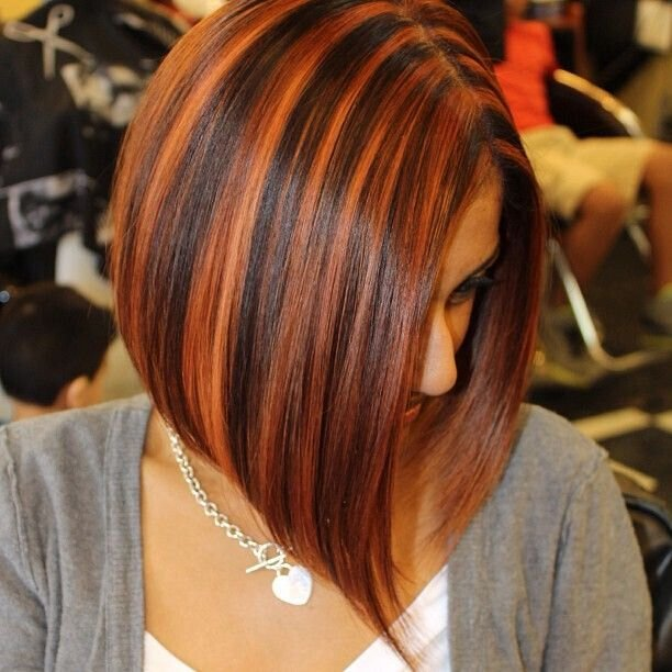 Women Black Hair With Blonde Highlights Styles 2d