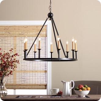 Trend fixer upper old world chandelier