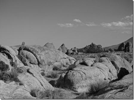 Black and White shot, Alabama Hills near Lone Pine CA