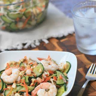 Goi Dua Chuot- Cucumber and Shrimp Salad.