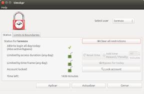 Gestionar y controlar el uso del ordenador en Ubuntu - timekpr 1