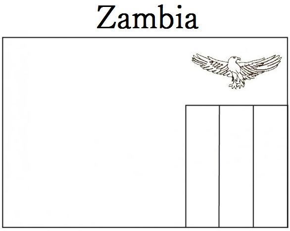 zambia flag coloring page -#main