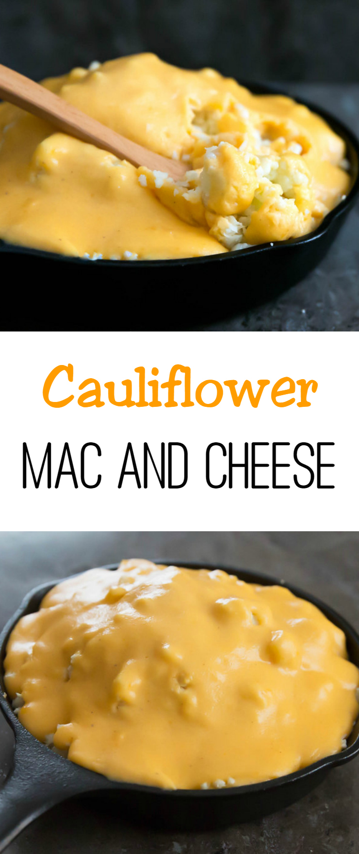 cauliflower mac and cheese photo collage