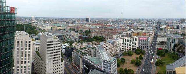 Panorámica desde la torre Kollhoff-Hochhaus - Berlín'15