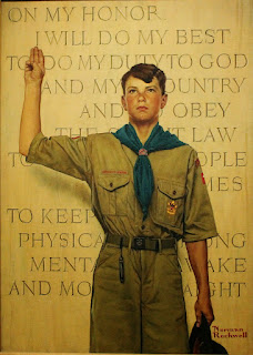 """""""On My Honor"""" - Norman Rockwell 1945"""